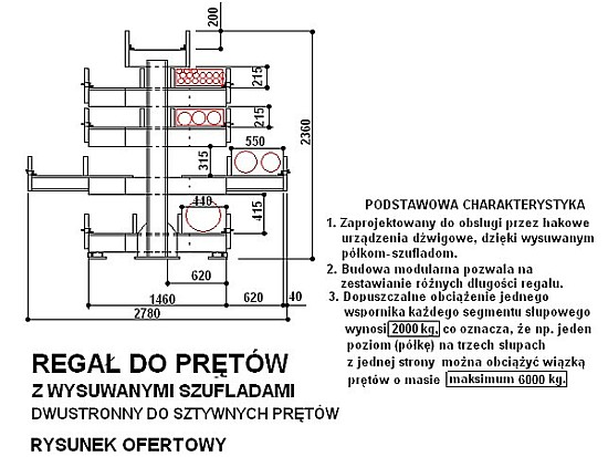 regał do prętów c.d.